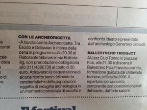 la repubblica Torino 14 giugno